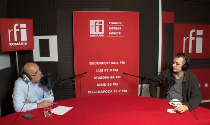 Ovidiu Nahoi si Sorin Cucerai in studioul de inregistrari RFI