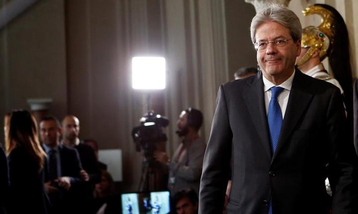 Paolo Gentiloni pe 11 decembrie 2016 la sediul Administratiei Prezidentiale italiene, la Roma