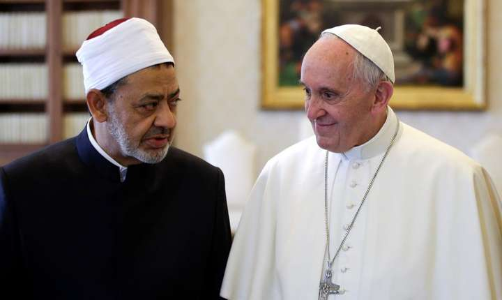 Marele imam Ahmed al-Tayeb si Papa Francisc, 23 mai 2016 la Vatican
