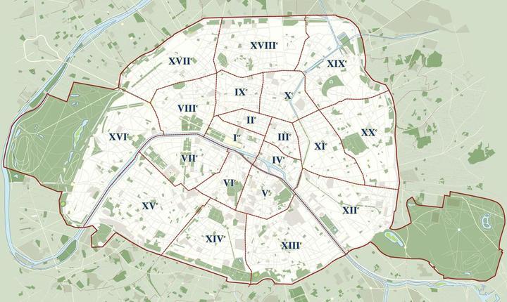 Planul arondismentelor din Paris