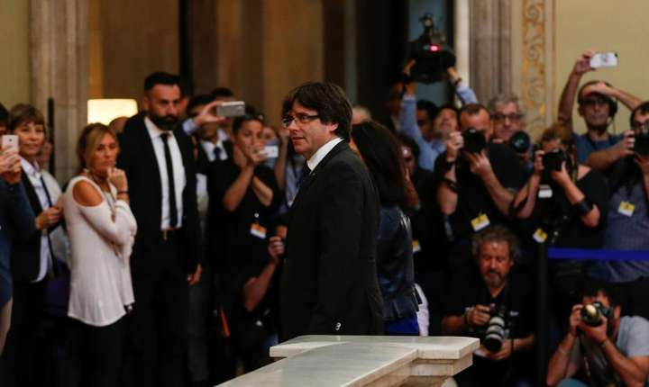 Liderul catalan, Carles Puigdemont (Foto: Reuters/Albert Gea)