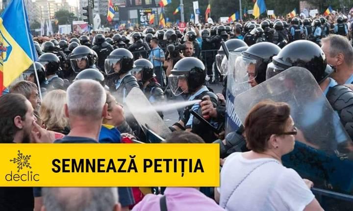 Comunitatea Declic cere redeschiderea dosarului 10 august (Sursa foto: declic.ro)