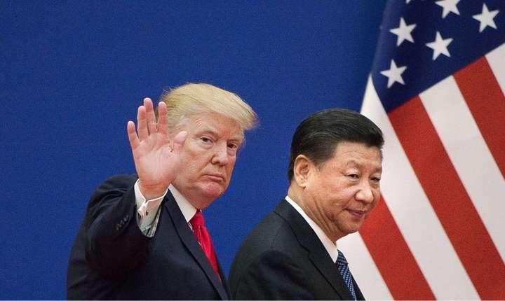 Preedintele Statelor Unite, Donald Trump si omologul chinez Xi Jinping la Beijing, 9 noiembrie 2017.