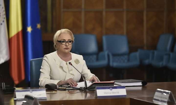 Premierul Viorica Dăncilă, în şedinţă de Guvern (Sursa foto: gov.ro-arhivă)