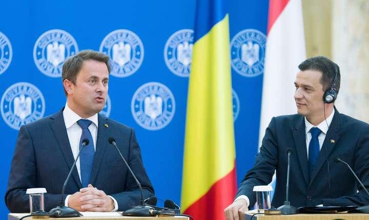 Premierul luxemburghez, Xavier Bettel, primit de Sorin Grindeanu, la Palatul Victoria (Sursa foto: www.gov.ro)