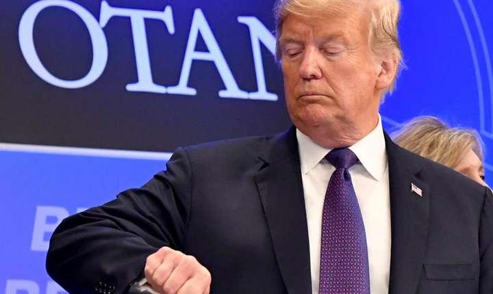 Presedintele american Donald Trump la summitul NATO de la Bruxelles, 11 iulie 2018