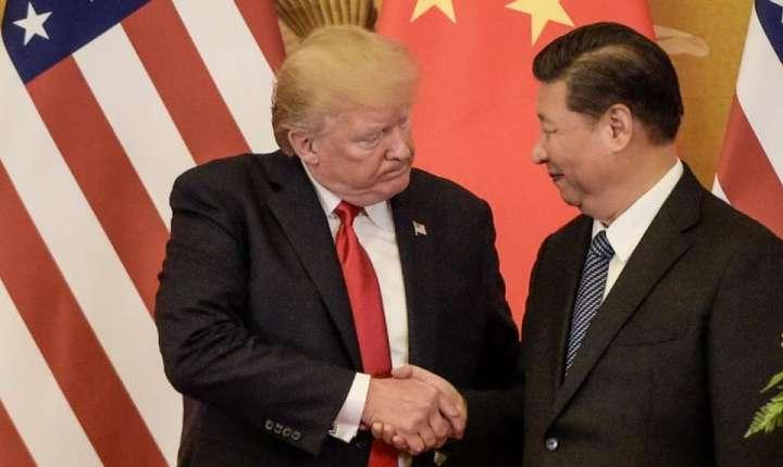 Presedintele american Donald Trump si omologul chinez Xi Jinping, 9 noiembrie 2017 la Beijing