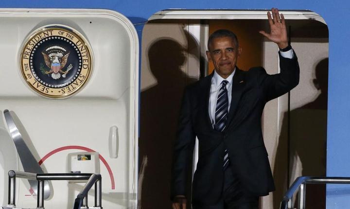 Presedintele Barack Obama la sosirea la Berlin, 16 noiembrie 2016