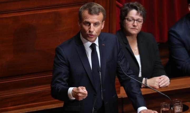 Presedintele Emmanuel Macron în Congresul Frantei, 9 iulie 2018, Versailles