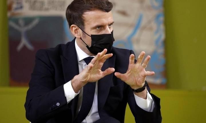Presedintele Emmanuel Macron s-a întâlnit cu studentii Universitatii Paris-Saclay, 21 ianuarie 2021.