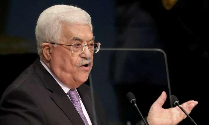 Presedintele palestinian Mahmoud Abbas la tribuna Natiunilor Unite, aici în septembrie 2016