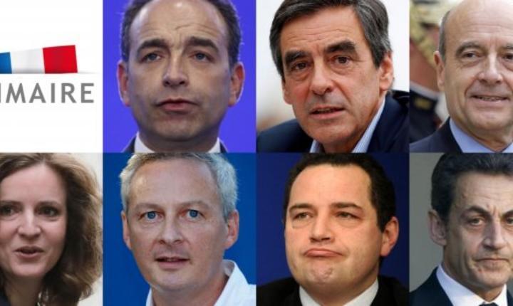 Cei 7 candidati la primarele dreptei nu vor avea fiecare decât 15 minute la dispozitie ca sà se exprime în cursul dezbaterii de pe TF1