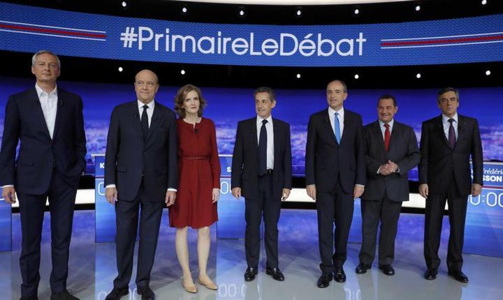 Cei 7 candidati la primarele dreptei si ale centrului francez se regàsesc astàzi seara pentru un al doilea duel televizat