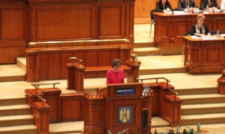 Principesa Margareta, în Parlament (Foto: RFI/Bianca Pădurean)