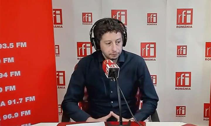 Giancarlo Sturloni, în studioul RFI