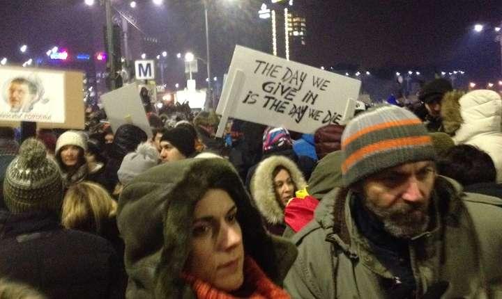 A 13-a zi de proteste anticorupție. Foto: Alex Olaru