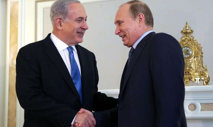 Benjamin Netaniahu si Vladimir Putin