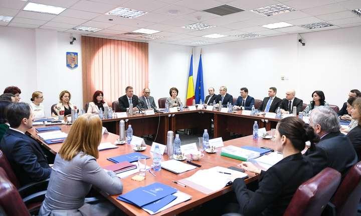 Preşedintele Klaus Iohannis, la şedinţa CSM (Sursa foto: presidency.ro)