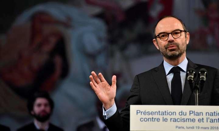 Premierul Frantei, Edouard Philippe, prezentând noul plan de combatere a rasismului si antisemitismului, 19 martie 2018