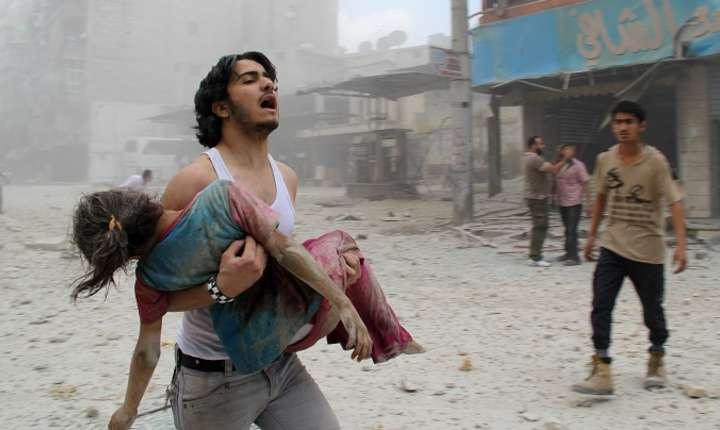 Imagini cu victime din Siria în timpul războiului civil