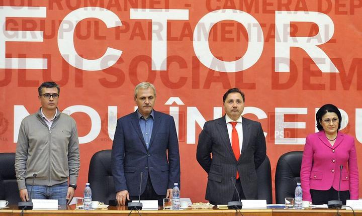 Liviu Dragnea (al doilea din stânga) a fost condamnat la un an de închisoare cu suspendare, în dosarul referendumului (Foto: www.psd.ro).