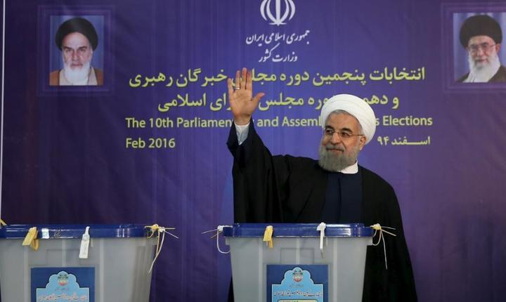 Presedintele Iranului, Hassan Rohani pe 26 februarie 2016