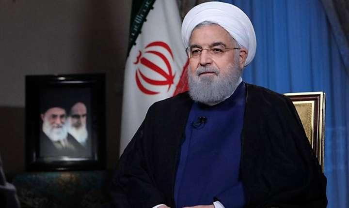 Presedintele iranian Hassan Rohani, la televiziunea iranianà pe 6 august 2018, comentând noile sanctiuni americane contra tàrii sale