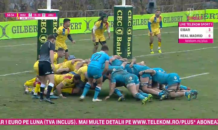 România 20 Uruguay 27