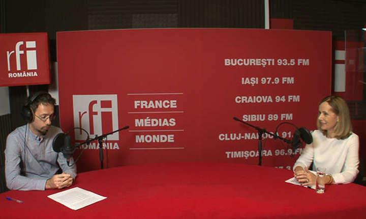 Roxana Wring, în studioul RFI (arhivă)