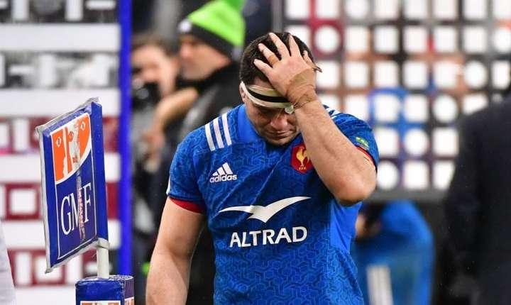 Guilhem Guirado, càpitanul nationalei franceze, deceptionat dupà înfrângerea în fata Irlandei, 3 februarie 2018