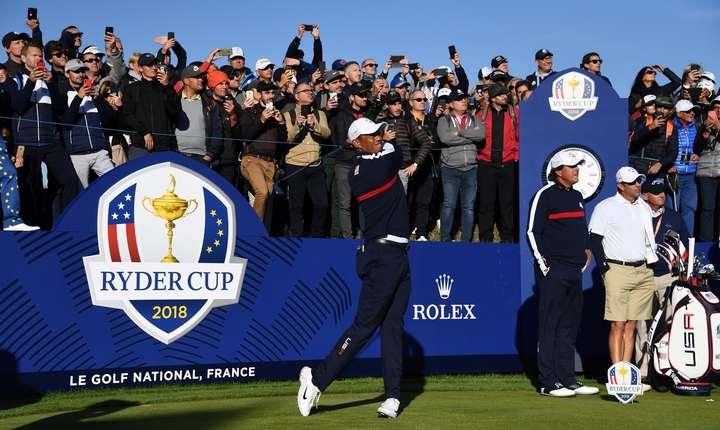 Americanul Tiger Woods se antreneazà pe Golful national din Franta în vederea competitiei Ryder Cup, 25 septembrie 2018