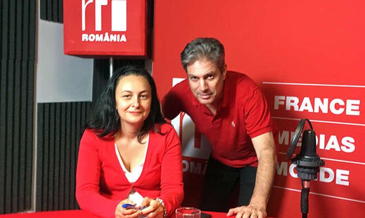 Sidonia Bogdan și Nicolas Don in studioul RFI Romania