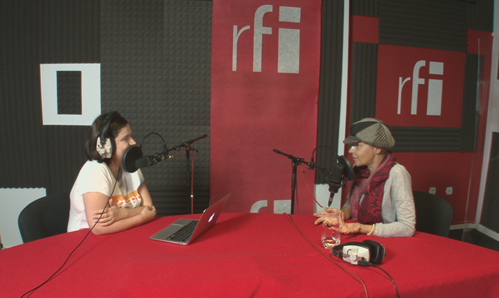Ana-Maria Caia și Sabina Fati în studioul RFI România