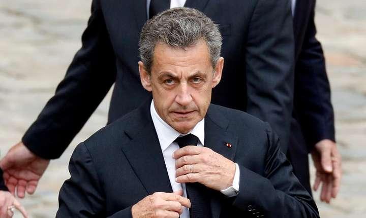 Ex-presedintele francez Nicolas Sarkozy la ceremonia omagialà pentru Charles Aznavour