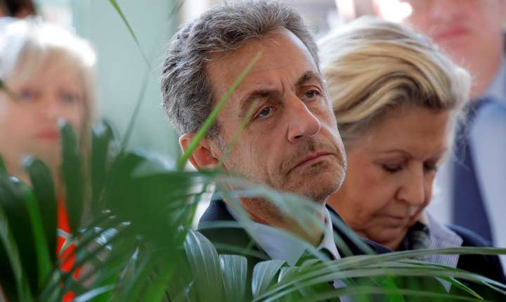 Fostul presedinte francez Nicolas Sarkozy la Roland-Garros pe 21 mai 2019
