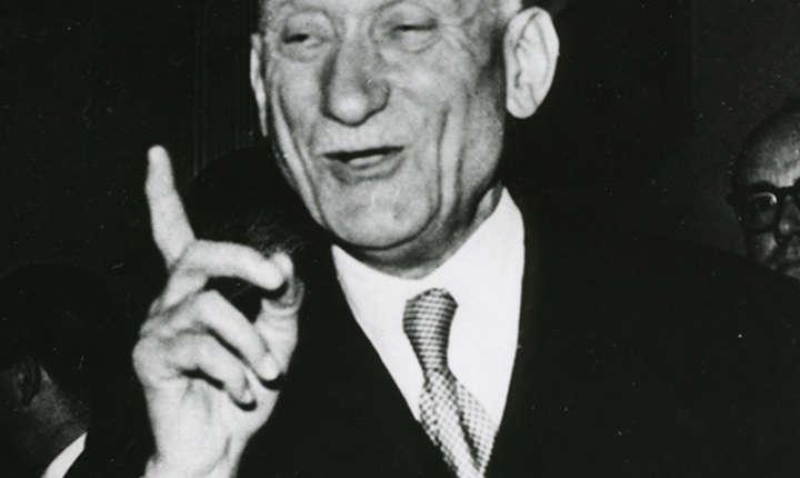 """Ministrul francez de Externe, Robert Schuman, este unul dintre """"părinții"""" fondatori ai UE"""