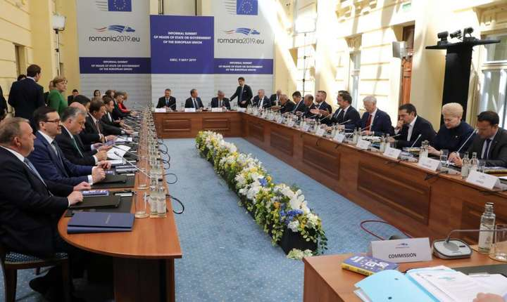 Cei 27 de lideri ai UE reuniti în summit la Sibiu, joi 9 mai 2019