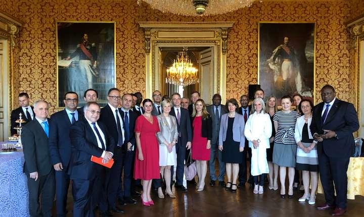 Luca Niculescu în mijlocul ambasadorilor francofoni, Quai d'Orsay, le Salon des Beauvais, 3 iunie 2019