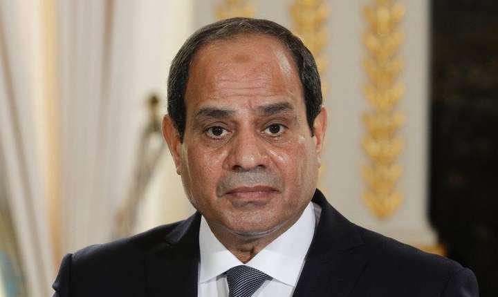 Presedintele egiptean Abdel Fattah al-Sissi, pe 24 octobrie 2017 la Paris.