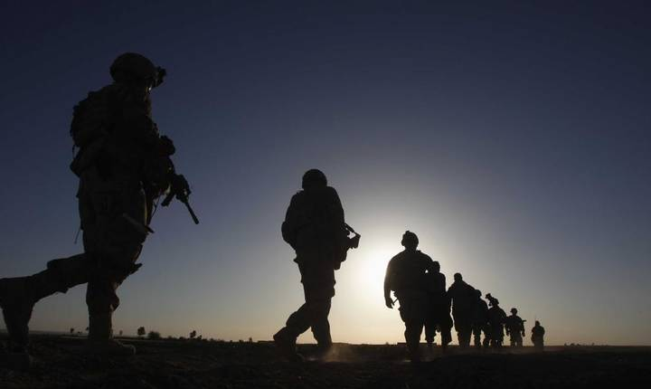 Soldati americani in provincia Kandahar aflata in sudul Afganistanului pe 10 Aprilie 2012