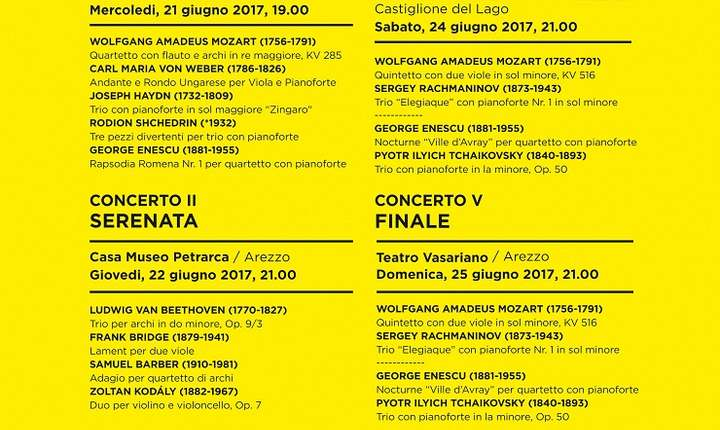 Afiș Festivalul SoNoRo, Arezzo - Italia 2017