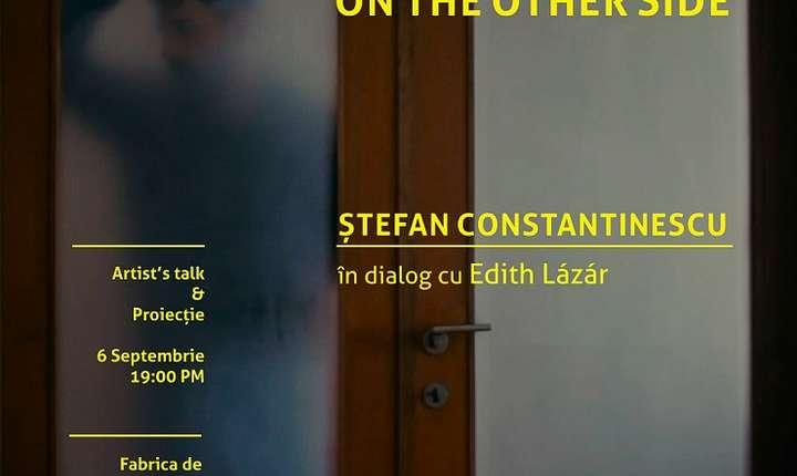 Afiș proiecție și artist's talk Ștefan Constantinescu