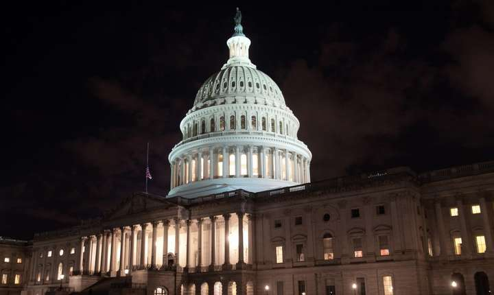 Capitolul - sediul Congresului american, Washington. Shutdown-ul ar trebui sa dureze cel putin pâna pe 27 decembrie 2018.