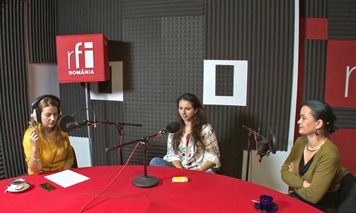 Andreea Pietroşel și invitatele emisiunii Tanar in Europa