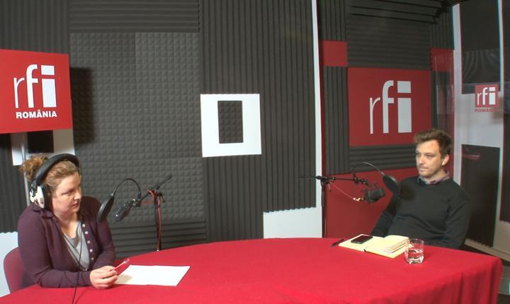 Andreea Orosz și Andrei Dinu in studioul RFI