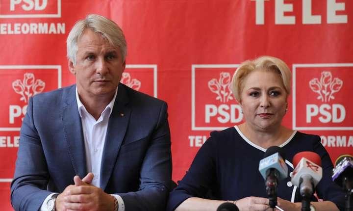 Ministrul Finanțelor, Eugen Teodorovici, și premierul Viorica Dăncilă