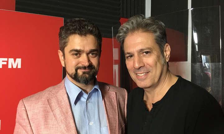 Theodor Paleologu și Nicolas Don in studioul RFI Romania