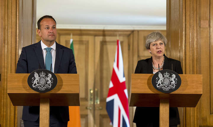 Theresa May și Leo Varadkar