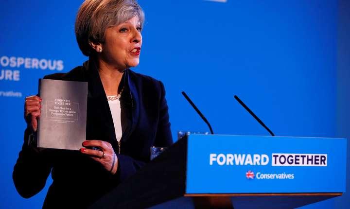 Theresa May la lansarea manifestului Partidului Conservator