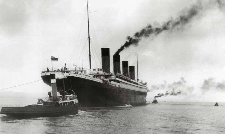 Titanicul în momentul escalei la Southampton în 1912